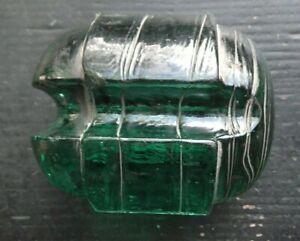 Grandpa Dons Antique Glass Johnny Ball Guy Wire Strain Insulator Lineman's Relic