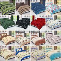 Luxury Quilt Duvet cover set bedding set with 2 pillow Case Single, Double, King