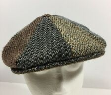 Harris Tweed Cabbie Newsboy Cap Size M 7 Hat Redford 100% Wool Multi Color