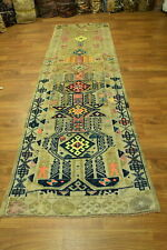 Head-turning Colors Semi-Antique 3x11 Hereke Turkish Oriental Runner Rug