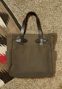 Filson Rugged Twill Small Tote Otter Green Used