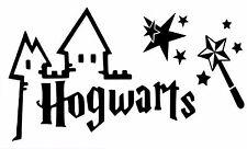 HARRY POTTER HOGWARTS MAGIC WAND CUT VINYL WALL ART STICKER /  DECAL