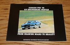 Original 1982 Chevrolet Camaro Engineering Profile Sales Brochure 82 Chevy