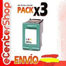 3 Cartuchos Tinta Color HP 351XL Reman HP Photosmart C4480