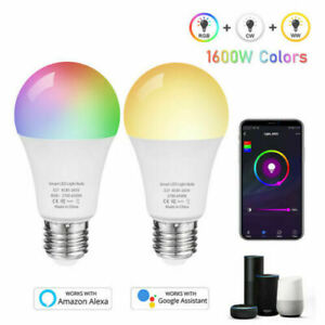 12W Wifi Smart LED Light Bulbs E27 Remote Control Amazon Alexa Google Home Screw