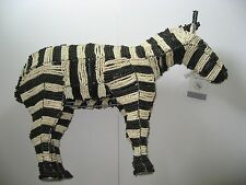 Pottery Barn Kids Beaded Zebra Handcrafted Very Rare and Absolutely Elegant