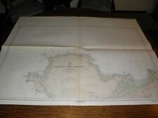 Antique Vintage US Navy Nautical Chart , BRITISH,WHALES HOLYHEAD TO GREAT ORMES