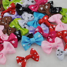 20 pcs Handmade Star Ribbon bows Flowers Appliques wedding Craft Lots mix B16