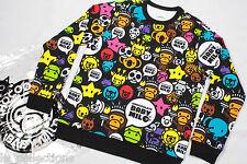New A BATHING APE Baby Milo x CHOCOOLATE SAFARI Crewneck Sweat Shirt 100%AUT L
