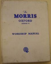 Morris Oxford Series V Original Workshop Manual No. AKD1029B 1960 Farina bodied