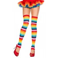 Rainbow Acrylic Leg Warmer Hosiery Adult Halloween