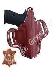 Holster Pistole BRAUN  - UNIVERSAL für 7,65 mm-Waffen -Leder- Handarbeit