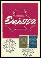 LUXEMBURG MK 1959 EUROPA CEPT MAXIMUMKARTE CARTE MAXIMUM CARD MC CM cb15