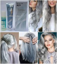 BERINA A21 HAIR COLOR LIGHT GREY PERMANENT HAIR DRY CREAM FASHION UNISEX