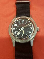 Hamilton May 1978 Hacking 17J 649 Stainless Military Watch Wristwatch GG-W-113