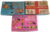 Vintage Fuzzy Felt Hospital Playmates And Playschool kids creativity
