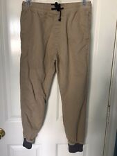 American eagle Men's Size S Chino Joggers grey ribbing at bottom