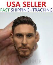 "1/6 Lionel Messi Head Sculpt Barcelona Soccer For 12"" HotToys PHICEN Male Figure"