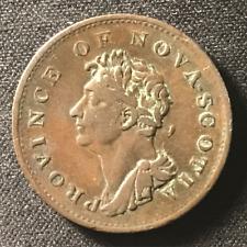 Canada 1823 Half Penny Token Un Sou NS-1A4 / Breton 867 / J-009