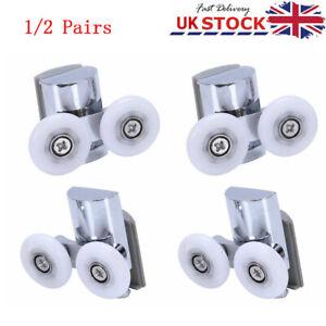 4Pcs Bottom Shower Door Rollers/Runners/Wheels 23mm dia fit 4-8mm glass