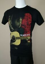 BOB MARLEY ZION STRUMMING GUITAR BLACK SOFT SMALL SM MENS TEE T SHIRT NEW