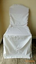 Ivory Folding Chair Covers Polyester Wedding Ballroom Banquet Graduation Party