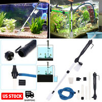 Electric Gravel Aquarium Fish Tank Automatic Siphon Vacuum Water Change Cleaner
