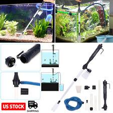 Electric Gravel Aquarium Fish Tank Automatic Siphon Vacuum Water Change Cleaner