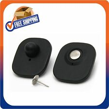 100 Rf Mini Tag Square Black With Pin Checkpoint Security Compatible 8.2Mhz Eas