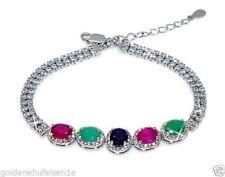 Unbehandelte Echtschmuck-Armbänder für Damen mit Smaragd