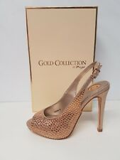 ladies occasion shoes Champagne / Rose Gold, Diamante Size UK 7, UK 8