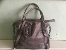 Authentic Burberry Large leather tote shoulder bag with detachable strap
