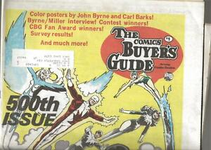 1983 The Comics Buyer's Guide #500  Alpha Flight Color Cover