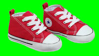New CONVERSE Crib FIRST STAR Boys Girls Trainers Baby Canvas Shoes Sale Size 1-4