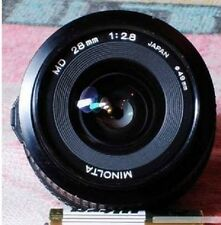 Minolta MD Mount f/2.8 28mm Wide Angle Lens X-370 X570 X700 XG1 XG7 XD SRT
