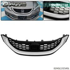 Fit For Honda Civic 2013 2014 2015 Seden Front Upper Grille With Chrome Molding Fits 2013 Honda Civic Si