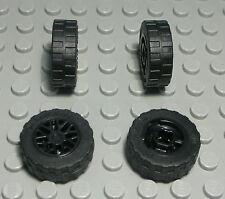 Lego Auto Rad 2,5 x 2,5 Reifen mit Schwarzer Gitter Felge 4 Stück          (777)