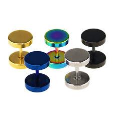 316L Stainless Steel Ear Plug Ear Piercing Stud Punk Earrings Men Women Jewelry