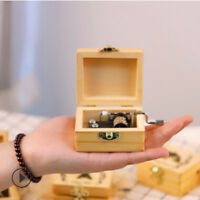 Handmade Wooden Pretty Music Box Hand Crank Music Box Birthday Creative Gifts S