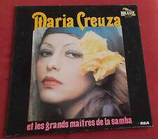 MARIA CREUZA  LP ORIG FR ET LES GRANDS MAITRES DE LA SAMBA