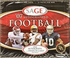 2007 Sage Autographed Football Hobby Box - Factory Sealed!