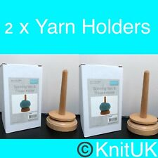 Classic Knit T1935 Wooden Spinning Yarn and Thread Holder