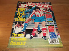 Football Magazine World Soccer April 1991 A-Z of Clubs Madrid Parma David Platt