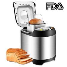 Bread Maker Machine Stainless Steel Programmable Loaf Bun Home Breadmaker Tobox