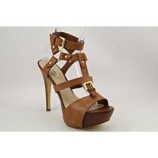 Calzado de mujer sandalias con tiras marrones, talla 39