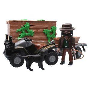 Playmobil Quad Geländefahrzeug Outdoor Wald Trailer Figur Jäger Outback Jungle