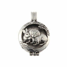 1pcs Vintage Rabbit Locket Pendant Aromatic Essential Oil Diffuser DIY Necklace