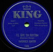 HARDROCK GUNTER (I'll Give 'Em Rhythm / I Put My) CLASSIC COUNTRY 78 RPM RECORD