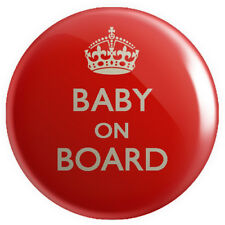 Baby on Board BUTTON PIN BADGE 25mm 1 INCH Pregnant Keep Calm Novelty Mother