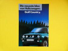 Prospekt / Katalog / Brochure VW Golf Country  03/90